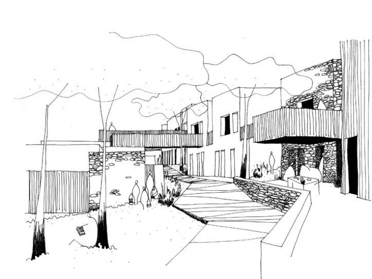 etude pour la construction d 39 une r sidence h teli re carcassonne particulier architecture. Black Bedroom Furniture Sets. Home Design Ideas